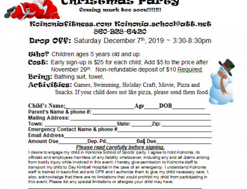 Kids Christmas Party – Saturday, December 7th 3:30-8:30pm