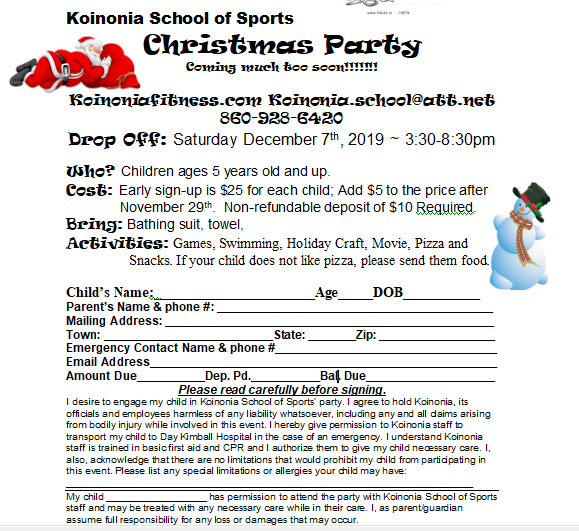 Christmas Party Form